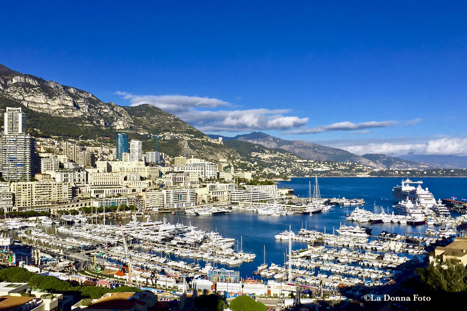View of Royalty-Monaco Marina - Italian Landscape Photography - La Donna Foto Houston, TX 77007
